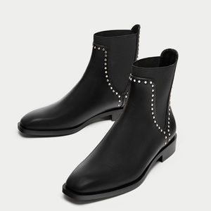 Zara Studded Chelsea Ankle Boot